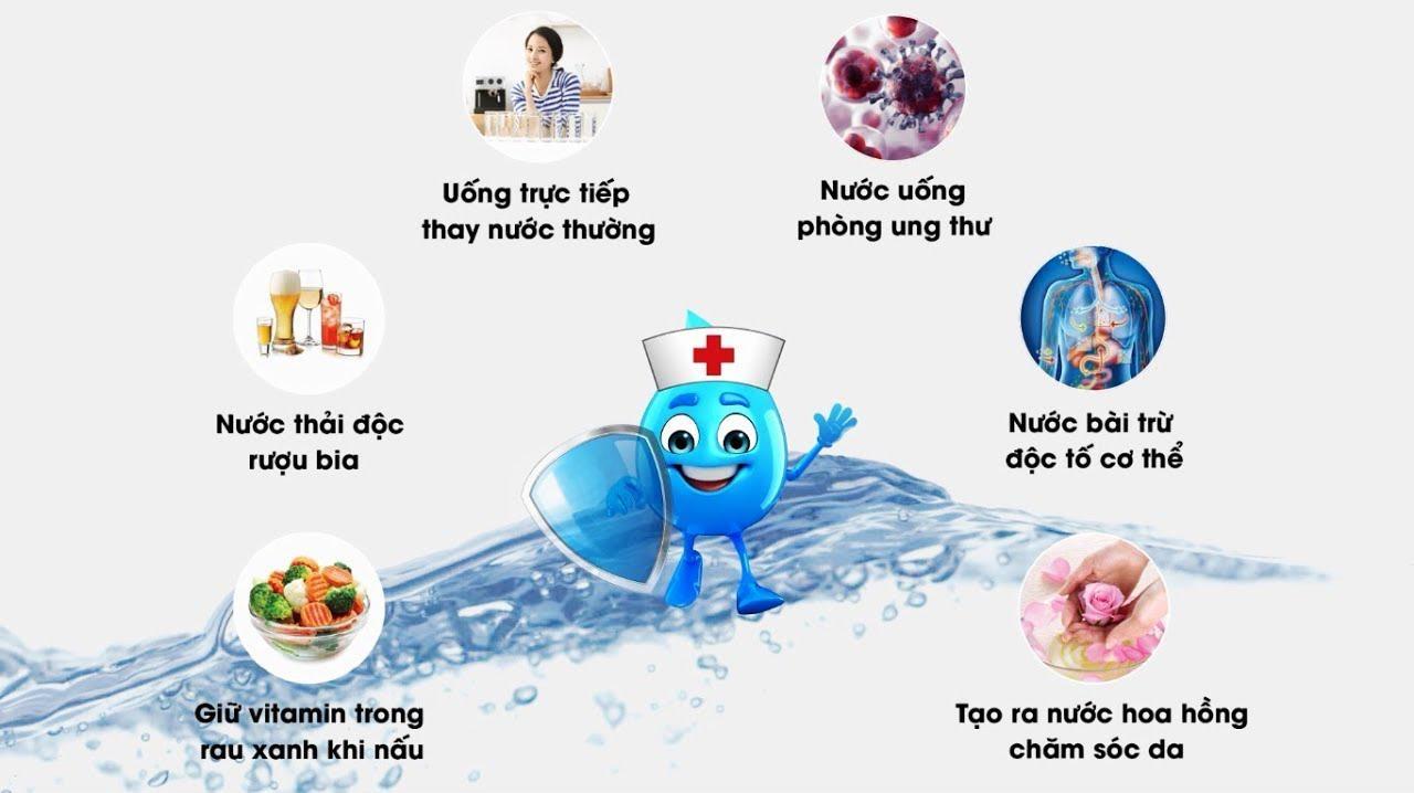 Nước ion kiềm hỗ trợ toàn diện cho sức khỏe