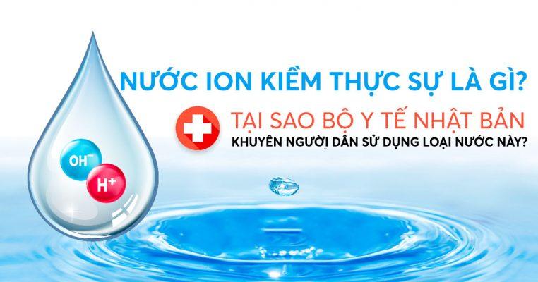 Nước ion kiềm là bí quyết trường thọ của người Nhật