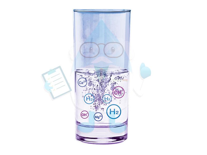 nước ion kiềm được tạo ra bằng công nghệ điện giải (điện phân) trải qua quá trình tách nước thành dạng ion H+ và OH-