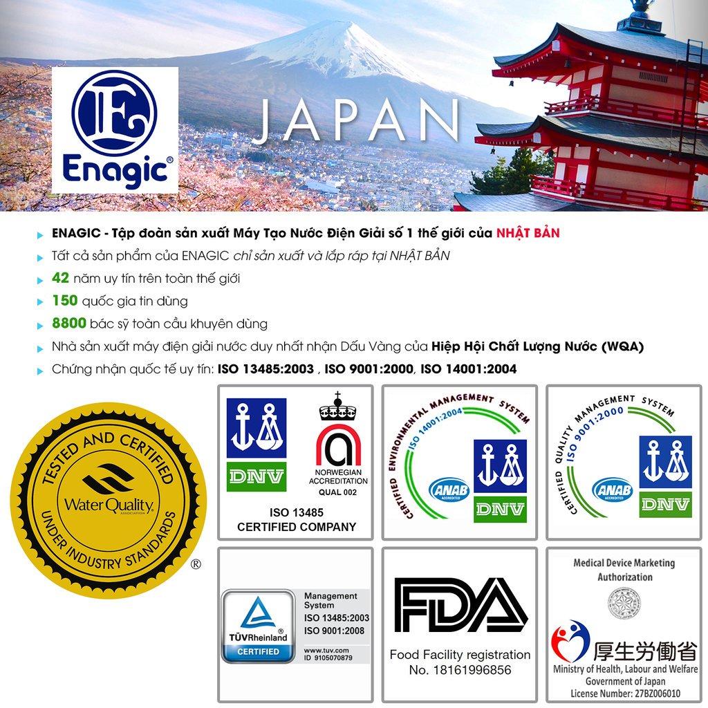 Máy lọc nước Kangen được nhập khẩu từ Nhật Bản.